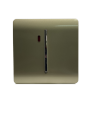 Trendi Artistic Modern Glossy 20 A Tactile Light Switch & Neon Insert Champagne Gold ART-WHS1GO